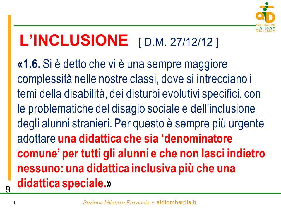 L'INCLUSIONE [ D.M. 27/12/12 ]